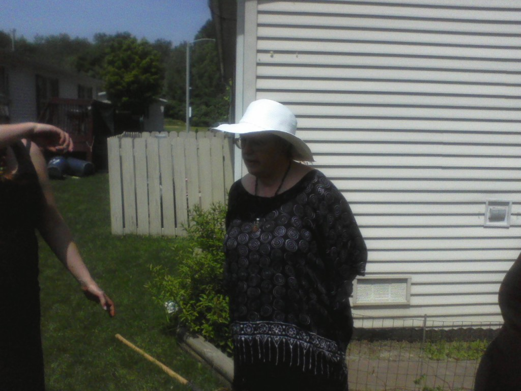 Lady BonaDea over seeing the tree planting