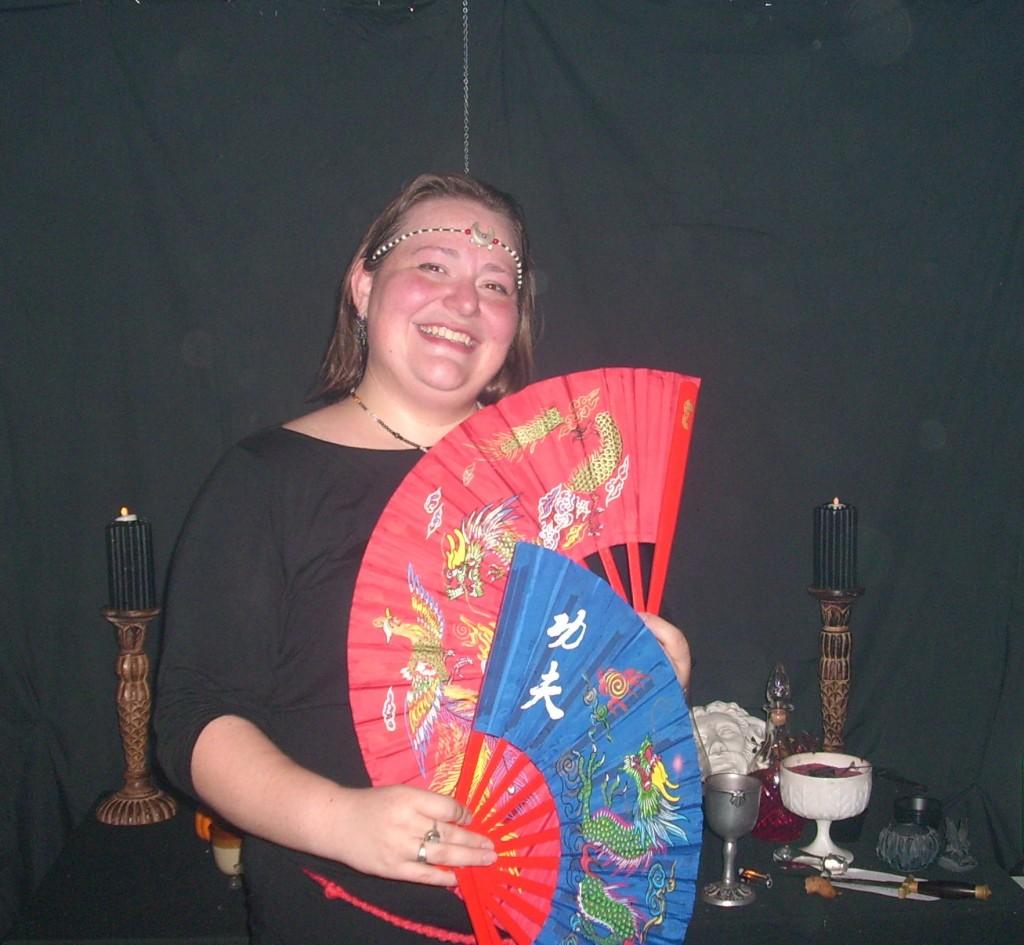 Lady Arawyn in the Fan Dance