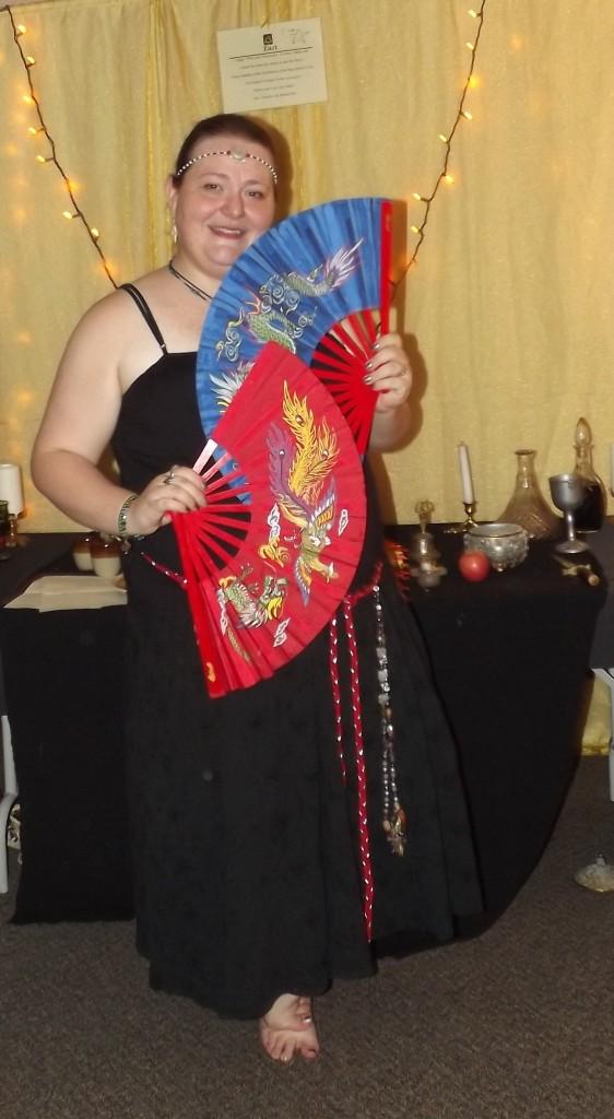 Lady Arawyn in the Mabon fan dance