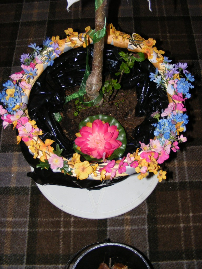 Beltane's Maypole and Wreath