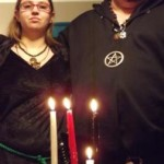 priestess and priest of Yule