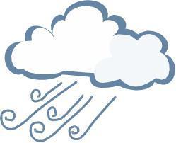 cloudy and rainy