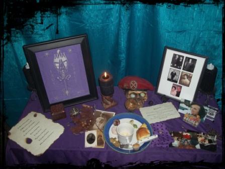 Ancestor Altar (after ritual)